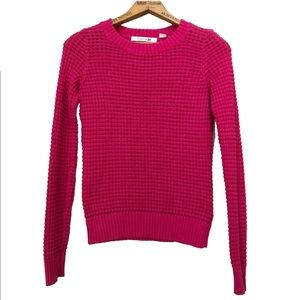 Forever 21 Nubby Knit Sweater Metallic Pink Small